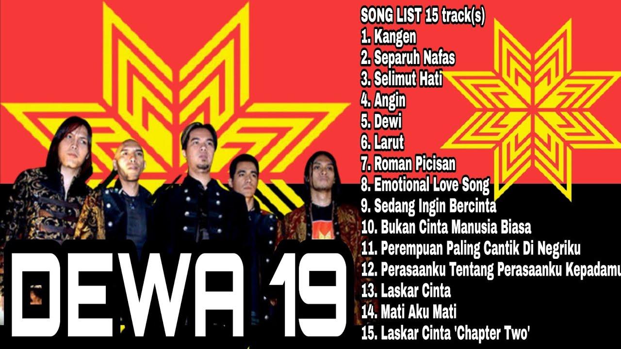 Dewa 19 Full Album | Separuh Nafas | Kangen | Pupus | Roman Picisan |Lagu Pop 2000an Indonesia| Once