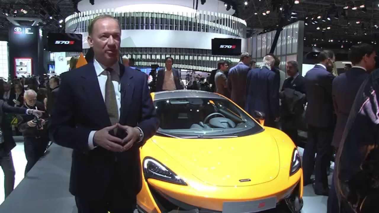 Mike Flewitt on the McLaren 570S Coupé - New York Auto Show 2015