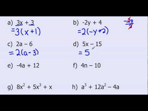 Common Factoring Tutorial