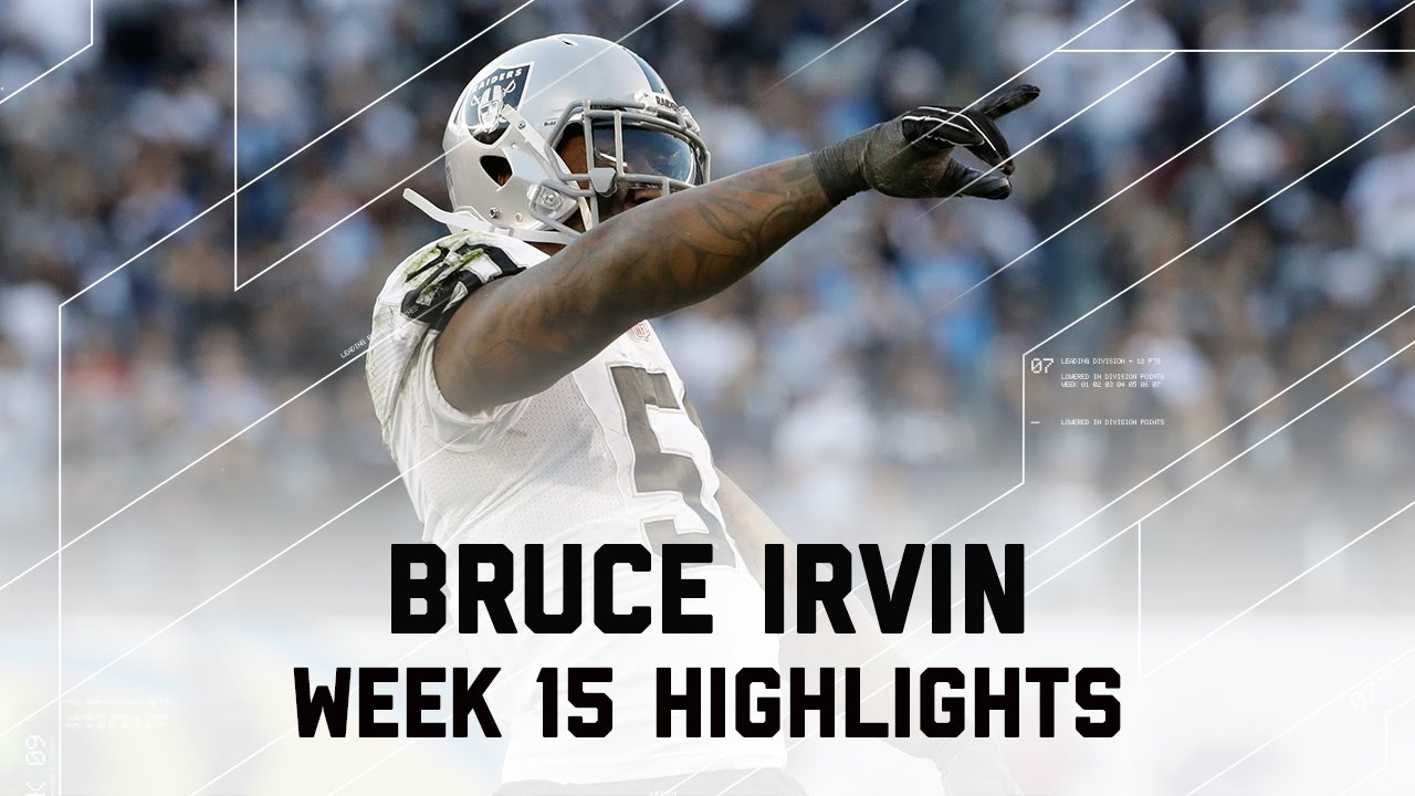 Bruce Irvin s Clutch 2 Sack Day Raiders vs Chargers