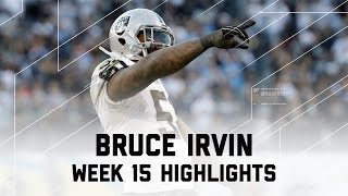 Bruce Irvin's Clutch 2 Sack Day! | Raiders vs. Chargers | NFL Week 15 Player Highlights