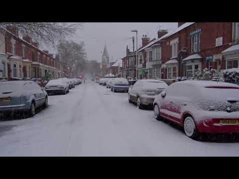 SNOW 10 12 2017 Leicester England UK