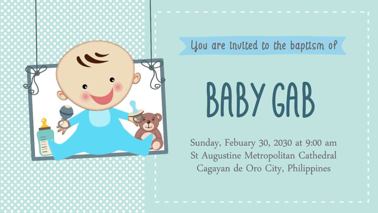 Animated invites christening sample youtube animated invites christening sample stopboris