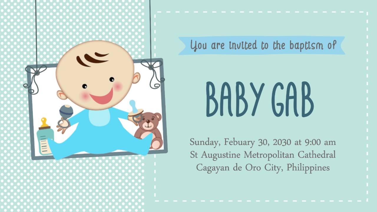 Sample Baptismal Invitation Baby Boy