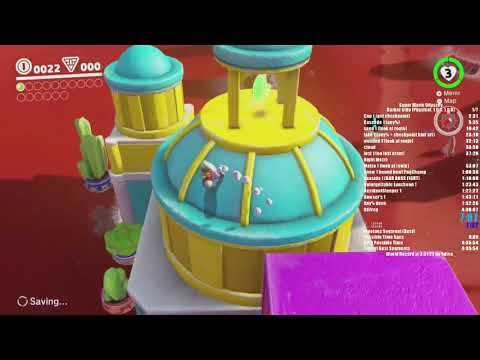 Super Mario Odyssey Darker Side Frog Skip speedrun in 4:02:08