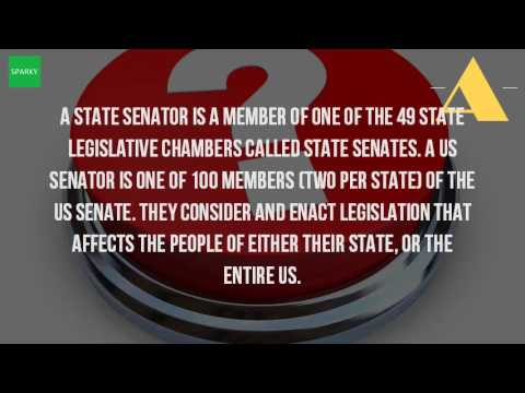 What Is The Difference Between US Senator And State Senator?