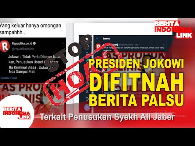 Jokowi Komentari Syeikh Ali Jaber Hoaks