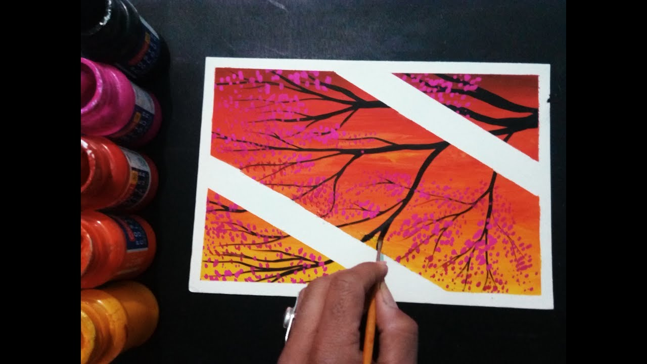 diy easy poster colour painting ideas for beginners