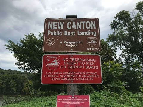 New Canton Boat Landing On The James River, Buckingham County, VA