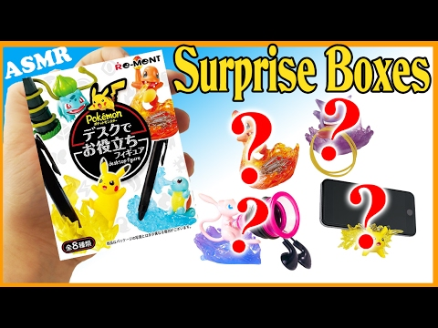 UNBOXING LOTS OF POKEMON BLIND BAG RE-MENTS Mystery Miniatures dollhouse rements Satisfying Asmr