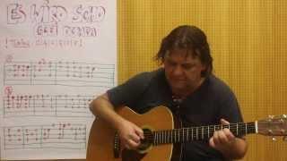 "Guitar Lesson (w/TAB) #20 : ""Es wird scho glei dumpa"" Fingerstyle (Open Tuning) - Helmut Bickel"