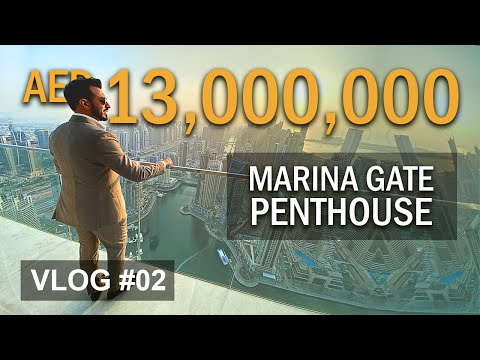 13 MILLION DUBAI Marina Penthouse in Marina Gate Tower | Property VLOG 2