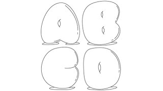 How to draw Bubble Letters - Easy step-by-step drawing lessons for kids