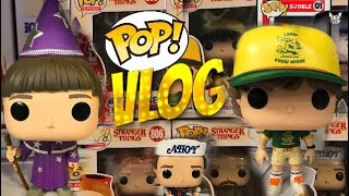 FUNKO POP STRANGER THINGS 3 VLOG + GAMESTOP GEARS BOX,GHOSTBUSTERS,RUSH & MORE #STARNGERTHINGS