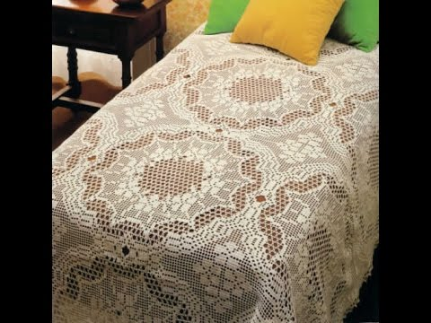Crochet Bedspreads Doily Pillow Free Patterns Magazine 23 Youtube