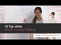 10 Top white Rash Guard Shirts Women's Swimwear, Spring 2017