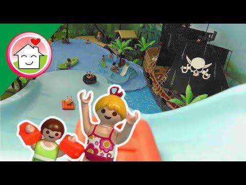 الزحليقة العملاقة في حديقة الألعاب المائية - عائلة عمر - جنه ورؤى