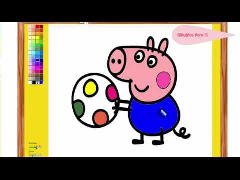 Dibujos de Peppa Pig para Colorear  Juegos de Peppa Pig 2016
