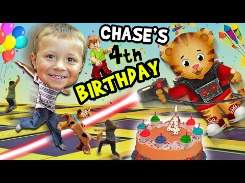 Chase's 4th Birthday Party Adventure!  Never Ending Fun w/ D