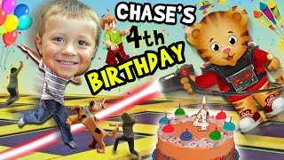 chase s 4th birthday party adventure never ending fun w daniel tiger pinata funnel vision vlog