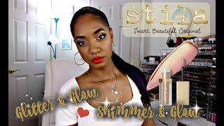 ★ STILA Shimmer & Glow AND Glitter & Glow Liquid Eye Shadows ★ SWATCHES and REVIEW
