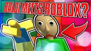 I FOUND BALDI IN ROBLOX! *SHOCKING* | Weekly Gold Games