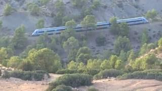 SNTF : Rampe de Mansoura BBA et train 19 , zoom de  11 km HD720