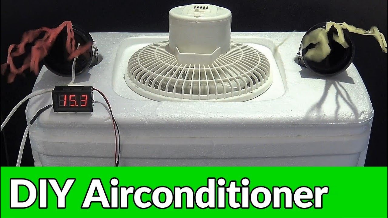 How to Make a Homemade Air Conditioner - DIY AC Easy and Quick