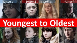Game of thrones cast Youngest to Oldest - Cast remembers season 8