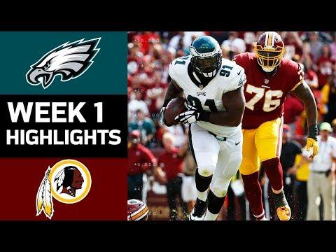 Eagles vs Redskins  NFL Week 1 Game Highlights