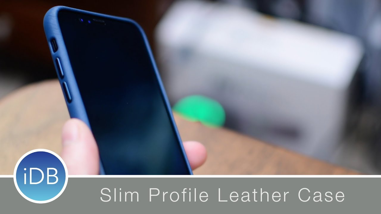 5d665c90fe Apple Leather Case for iPhone X - Review - YouTube