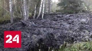 Природная аномалия на Урале с горы Песчаная сошел гигантский оползень   Россия 24