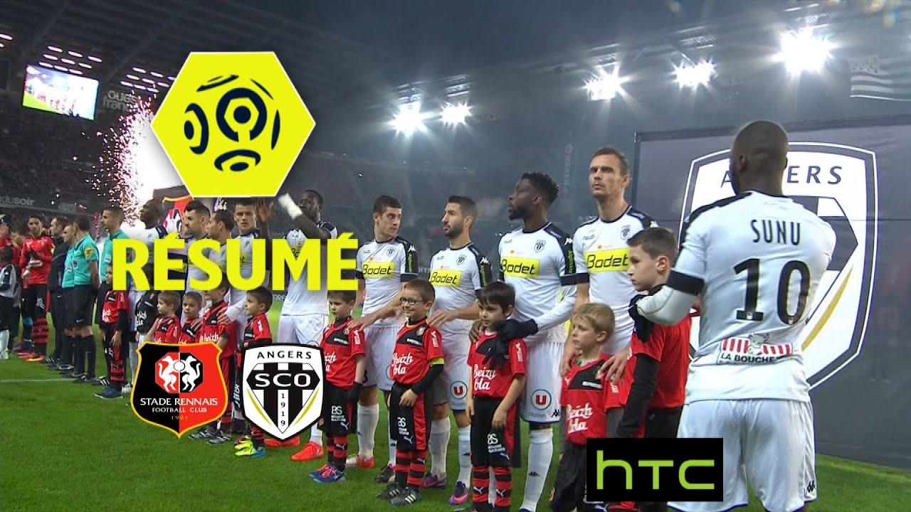 stade rennais fc - angers sco  1-1  - r u00e9sum u00e9 -  srfc - sco     2016-17