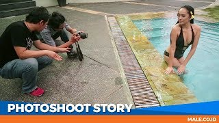 Penuh Gairah di Behind the Scenes Photoshoot Model ECHA CAESA - Male Indonesia