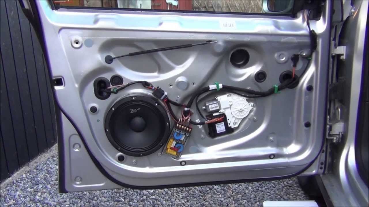 Front door speaker change Golf MK5 8 Kit  YouTube