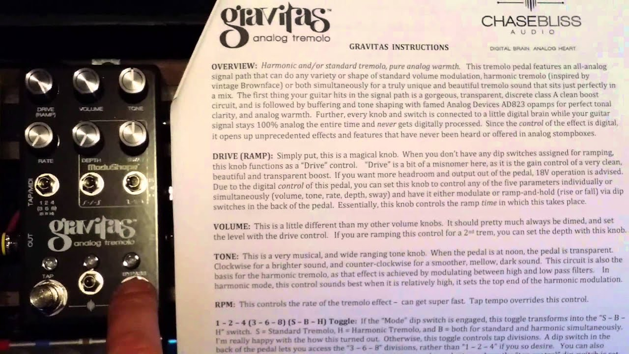 Chase Bliss Gravitas Overdrive Preamp Circuit Youtube Pre Amp