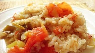 Рис с помидорами и болгарским перцем в мультиварке. Рис с овощами. Рецепты для мультиварки