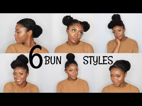 NATURAL HAIR| 6 BACK TO SCHOOL BUN HAIRSTYLES