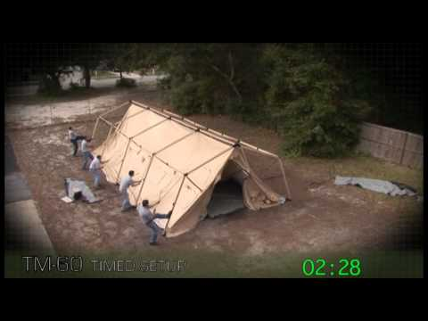Utilis TM60 Rapid Deployable Tactical Military Tent Shelter - Timed Setup