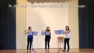 W. A. Mozart - Eine kleine Nachtmusik K. 525, Allegro (Flute East Trio)