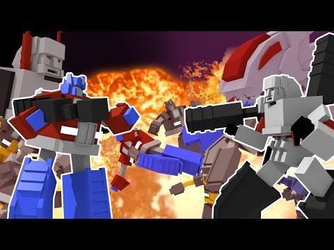 Minecraft | TRANSFORMERS ROYAL RUMBLE - Autobots vs Decepticons! (Transformers Challenge) - Видео из Майнкрафт (Minecraft)