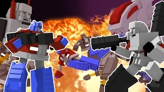Minecraft | TRANSFORMERS ROYAL RUMBLE - Autobots vs Decepticons! (Transformers Challenge)