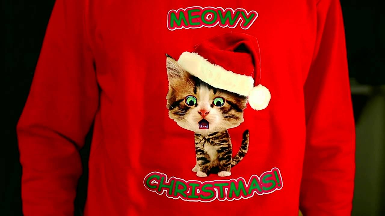 Caroling Kitty Ugly Christmas Sweater- Digital Dudz Christmas 2013 ...
