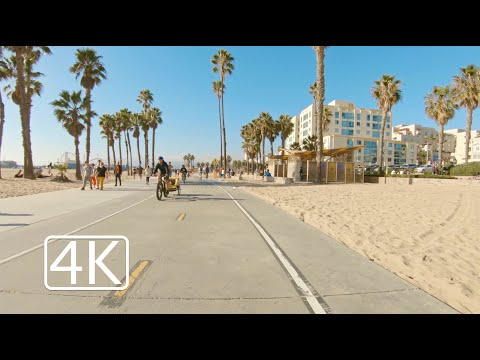 Manhattan Beach to Santa Monica | Ocean Bike Ride | 4K