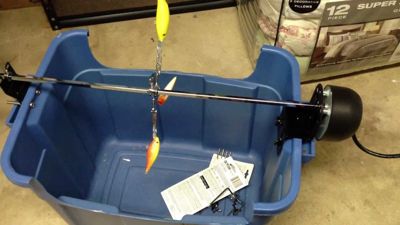 Homemade Fishing Lure Dryer Youtube