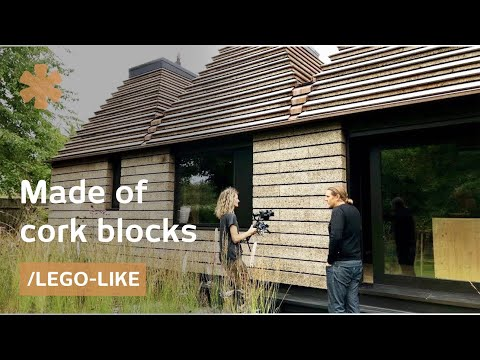 Modern UK House Of Cork LEGOs Built By Hand, No Glue Needed