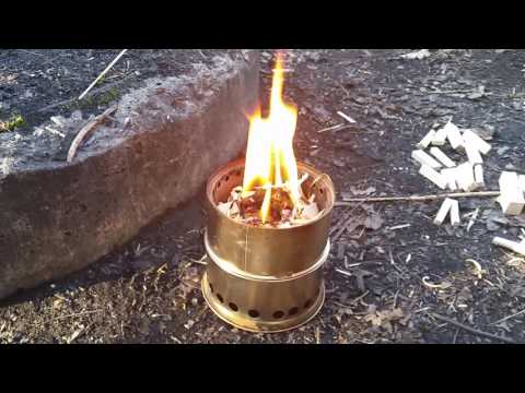 Proper use of woodgas stove.