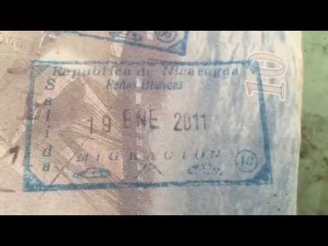 My American passport has a stamp from Nicaragua