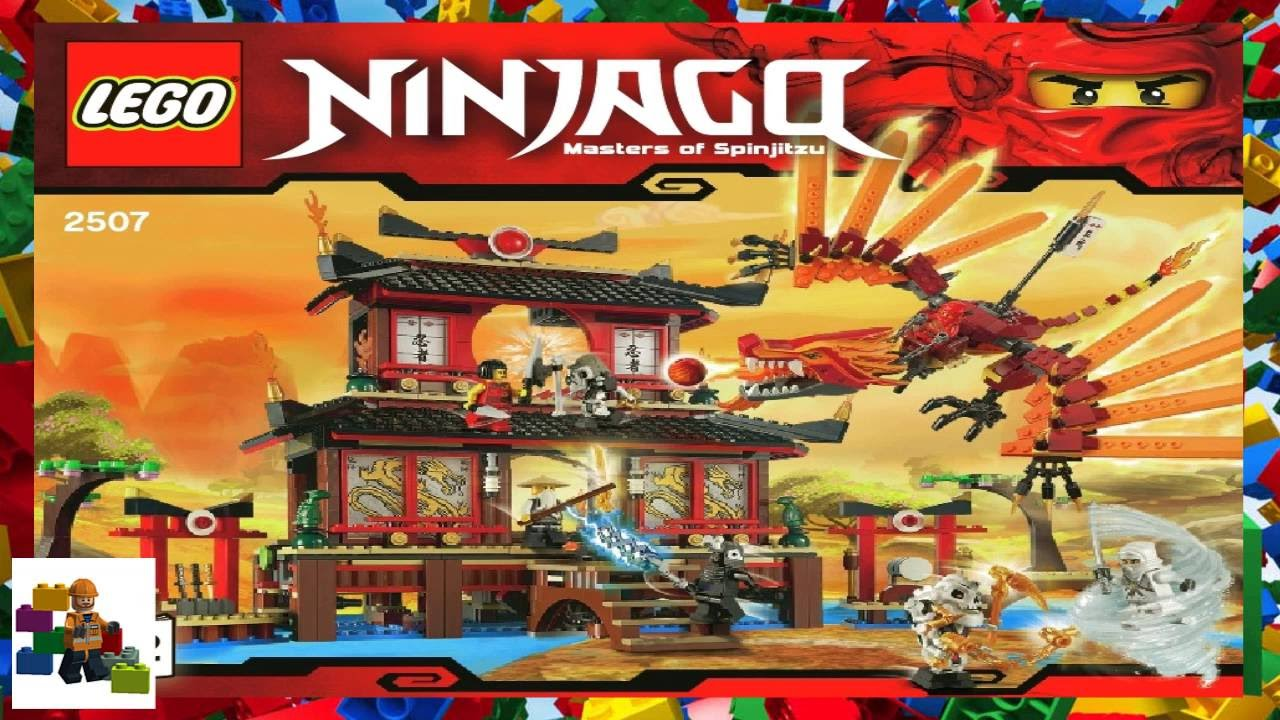 Lego Instructions Ninjago 2507 Fire Temple Book 2 Youtube