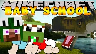 Minecraft -BABY SCHOOL DAYCARE - VISITING THE DINOSAURS!